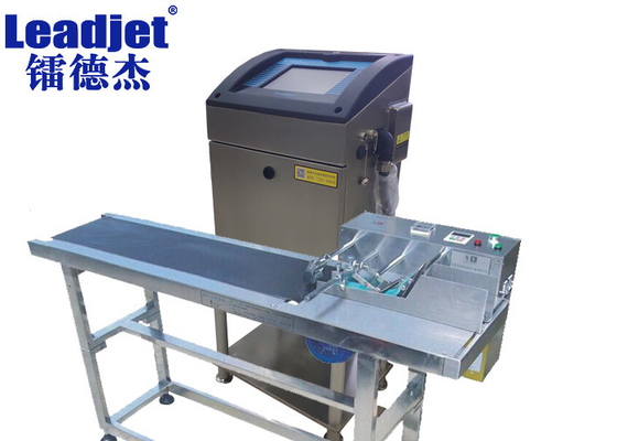 Expiry Date Leadjet Inkjet Printer , 1-4 Lines Industrial Inkjet Printing Machines